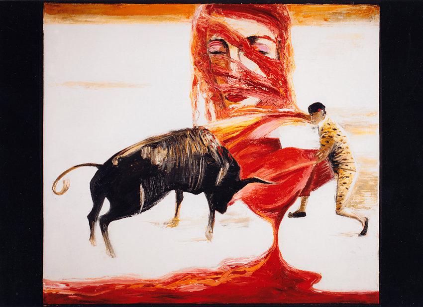 """Carmen"", Öl/LW, 85x95, 1988"