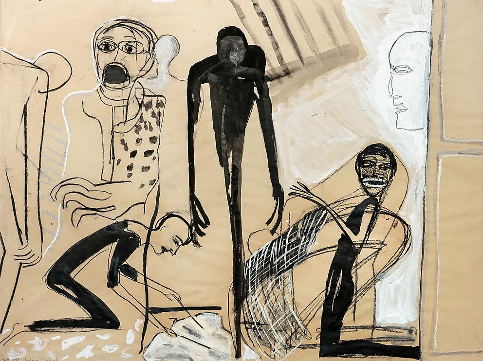 "Serie: ""SUM"" - Theater, Mischtechnik, 1984"