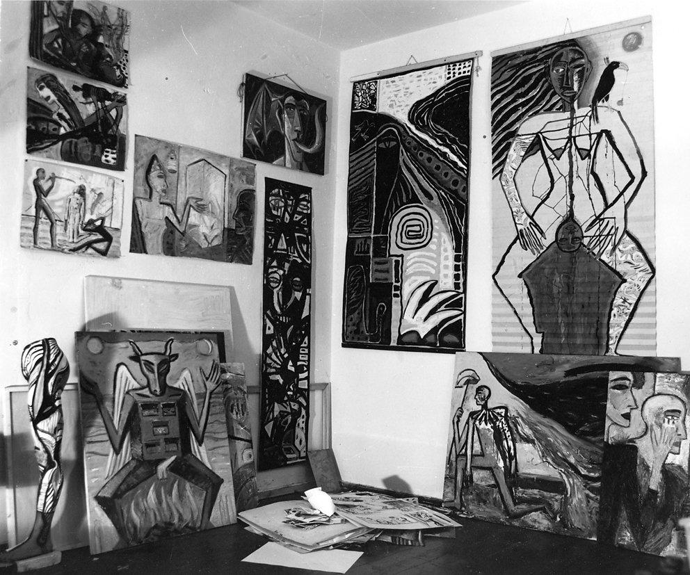 Blick ins Atelier, Ostberlin, 1985 / © Karin Wieckhorst