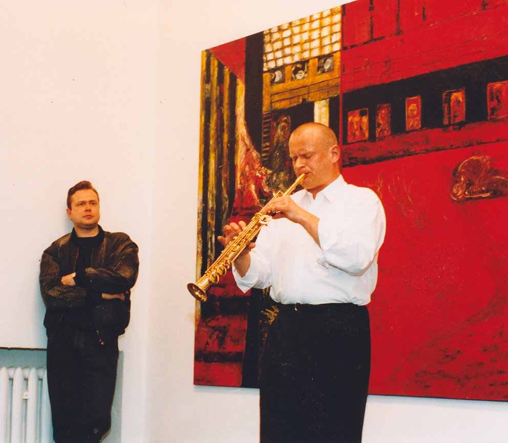 Eröffnung Galerie am Baumschulenweg - Studio Bildende Kunst, Berlin, Christoph Tannert und Dietmar Diesner, 1992