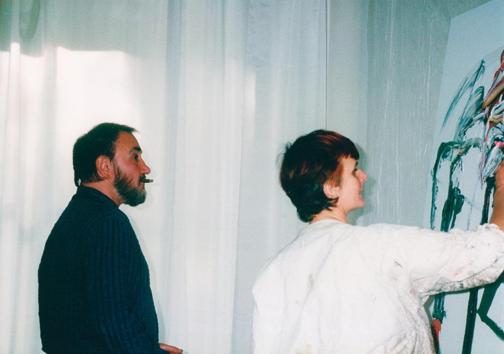 """""""Begegnungen"""", Gemeinschaftsarbeit mit Strawalde,  Galerie ozwei, Berlin, 1993"""