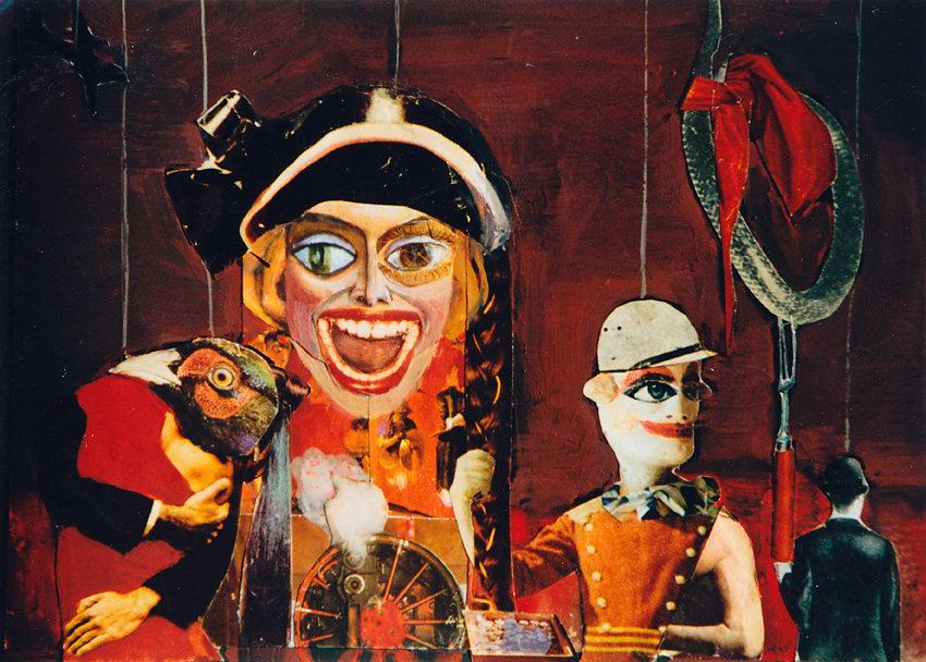"""""""Marionetten"""", Collage, 1975"""