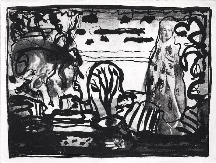 """Postkarte """"Weiblichkeit"""",  1983"""