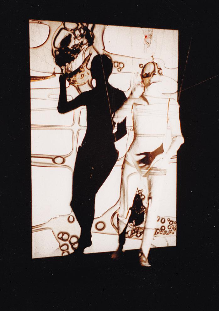 """""""Figur in Projektion"""",  Studio Bildende Kunst, Baumschulenweg, Berlin 1992"""