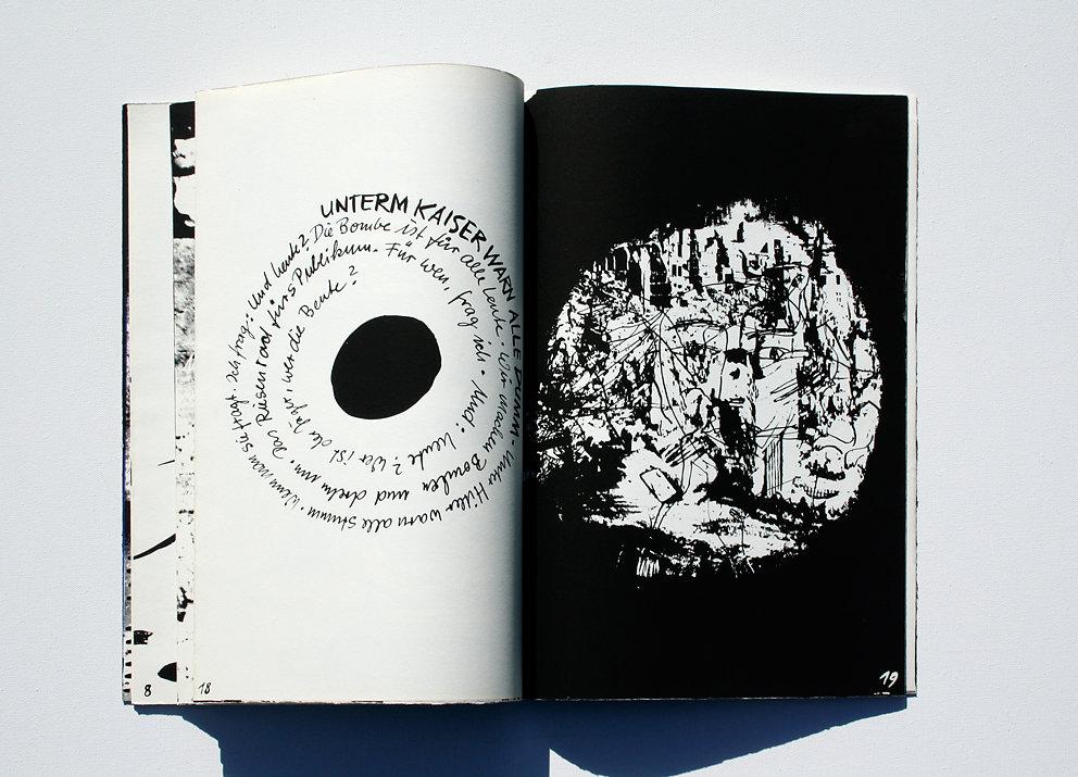 """Originalgrafisches Buch """"Vielleicht werde ich plötzlich verschwinden"""", Original-Siebdruck zu Gedichten von Inge Müller, Eigenverlag, Berlin, 1986Originalgrafisches Buch """"Vielleicht werde ich plötzlich verschwinden"""", Original-Siebdruck zu Gedichten von Ing"""