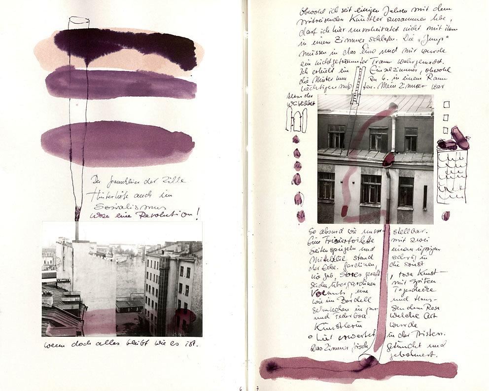 """Hand-Arbeits-Buch """"Die Heldenstadt Leningrad – Sankt Petersburg"""", 1980 /1983"""